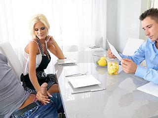 Aged Milf Stepmom Seduces Her Son During Chores